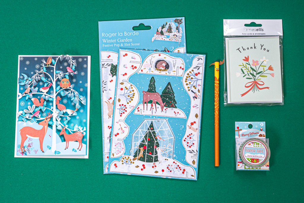 Stationery selection for December 2019 from inkdrops. co.uk - stationery through your letterbox