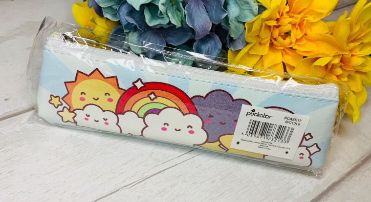 Kawaii weather pencil case from inkdrops.co.uk - photo by Boxession