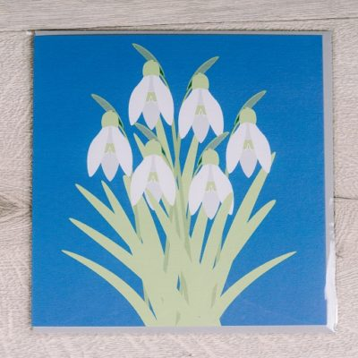 Snowdrops card - buy from inkdrops.co.uk