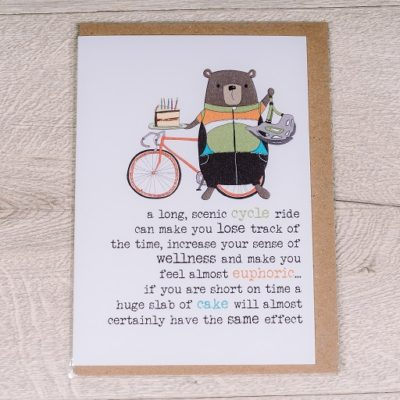 Cake Vs Cycling card - buy from inkdrops.co.uk