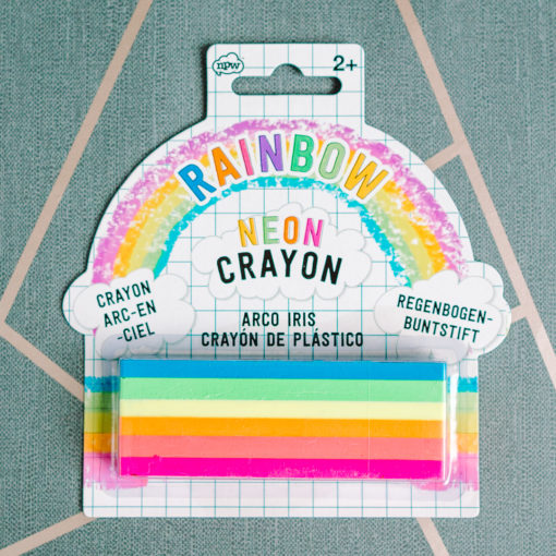 Neon rainbow crayon from inkdrops.co.uk - stationery through your letterbox
