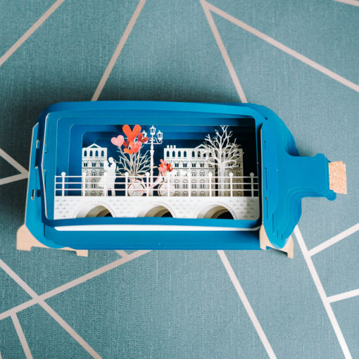 Pop up bottle shaped card from inkdrops.co.uk - stationery through your letterbox