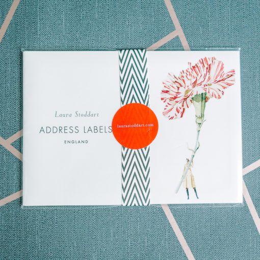 envelope labels from inkdrops,co.uk - stationery through your letterbox