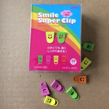 Smile Super Clips from inkdrops.co.uk - stationery makes the world a happier place