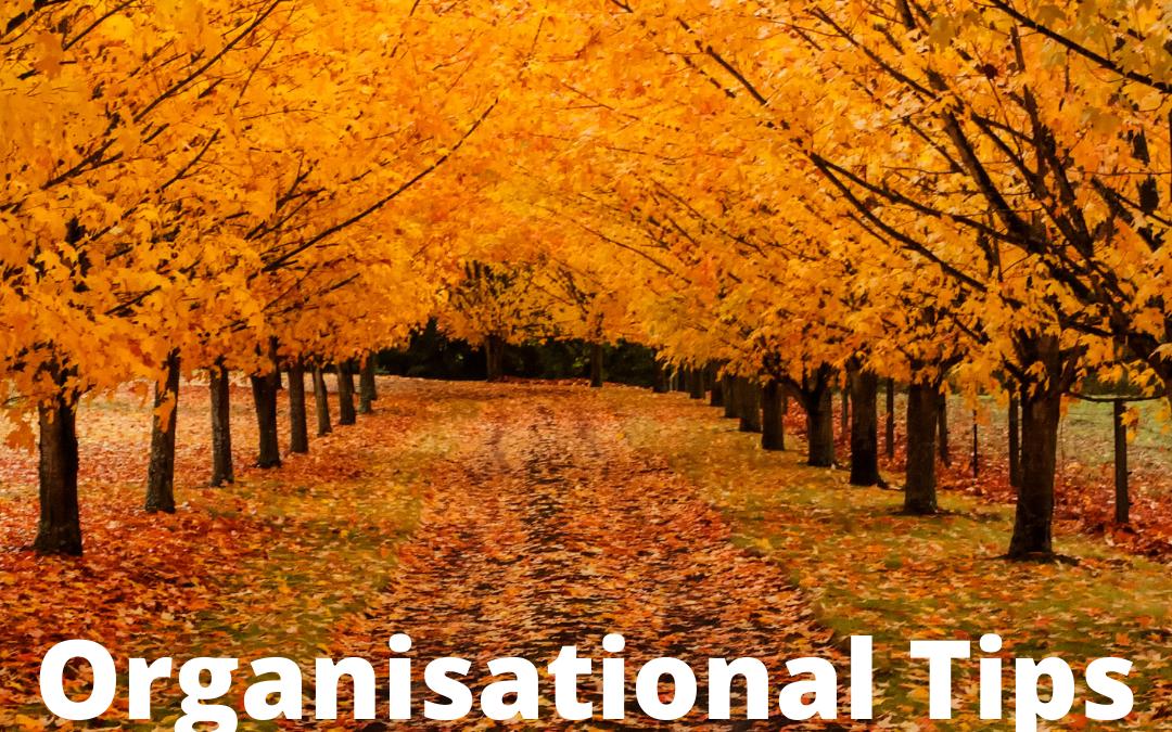 Organisational Tips for November