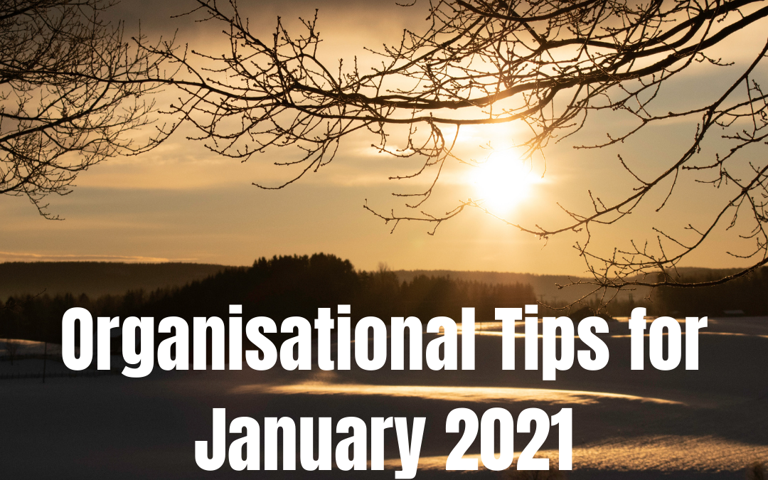 Organisation Tips for January