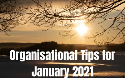 Organisation Tips for January