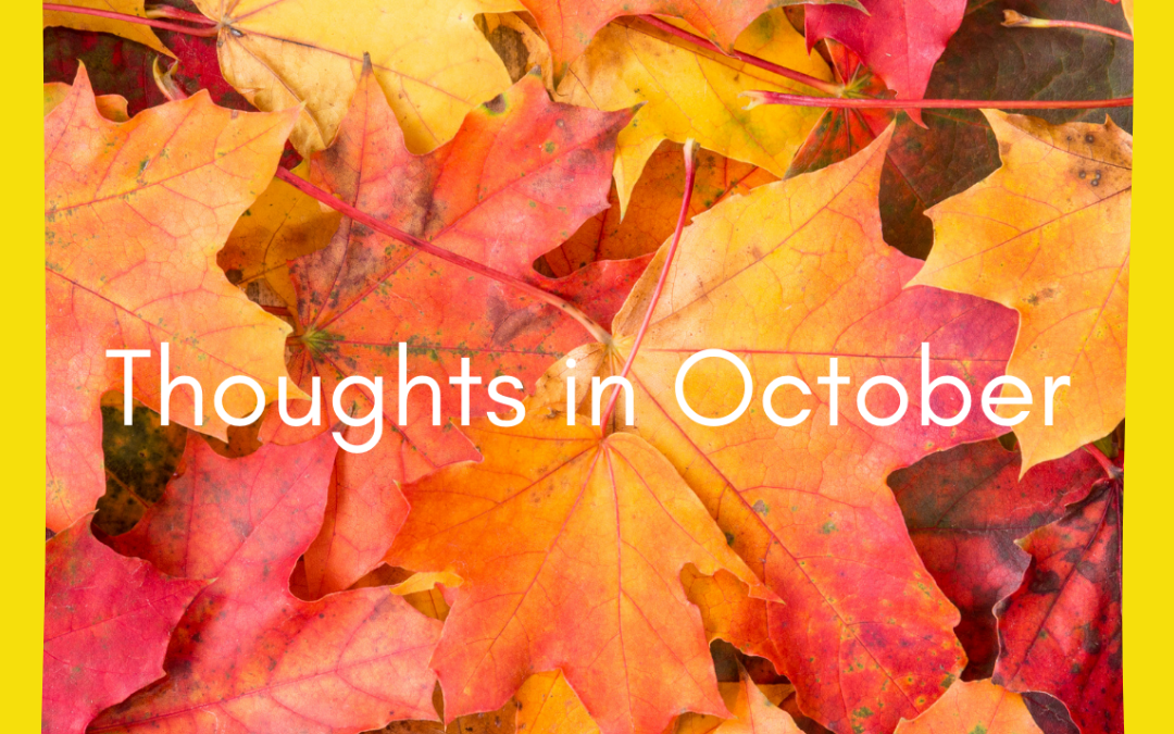 Thoughts in October